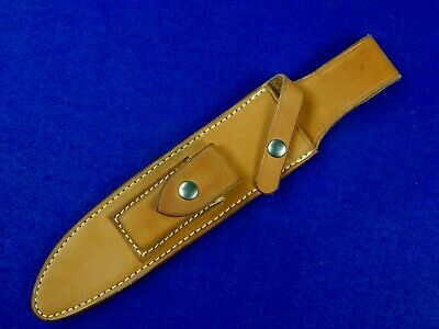 US Custom Made Mark Fanders Leather Sheath Scabbard for Fighting Hunting Knife