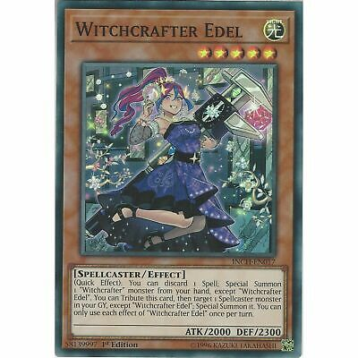 Witchcrafter EdelINCH-EN017-Super Rare-Yugioh Infinity Chasers