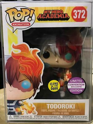 POP Animation My Hero Academia Todoroki Glow in The Dark Funko Pop Convention Ex
