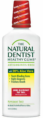 The Natural Dentist Healthy Gums - 16.9 oz Peppermint Twist Antigingivitis Rinse