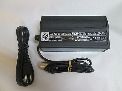 Pride Mobility Scooter Battery Charger HP8204B 24V / 3A Power Cord High Power