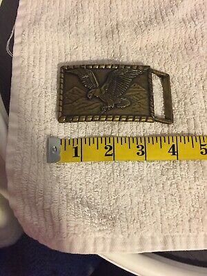 vintage brass belt buckle eagle