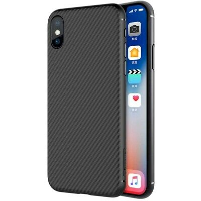 Nillkin Synthetic Fiber Carbon case cover for iPhone X black