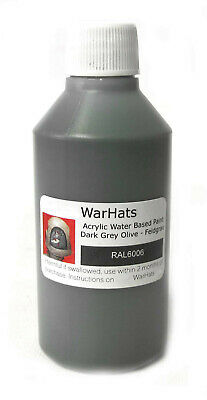 German Helmet Paint RAL6006 WW2 Dark Grey Olive Smooth Feldgrau Wehrmacht 100ml