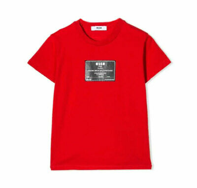 T-shirt MSGM Bimbo 018538 red ss19
