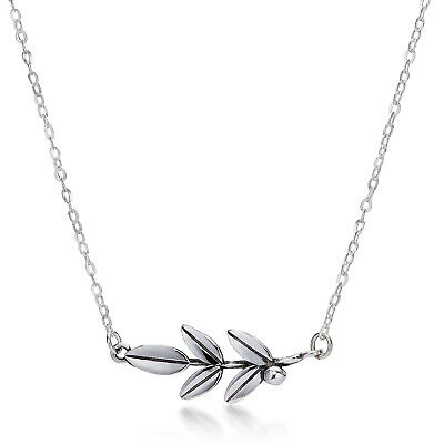 Sterling Silver 925, Greece Necklace, Olive Leaf, Ancient Greek Necklace Peace