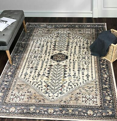 A2Z Rug Large Rugs Sizes Cream Pattern Traditional Vintage Persian Oriental Mats