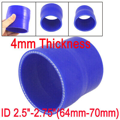"2.5"" - 2.75"" 64mm to 70mm Straight Reducer Silicone Hose Coupler Turbo Intake"