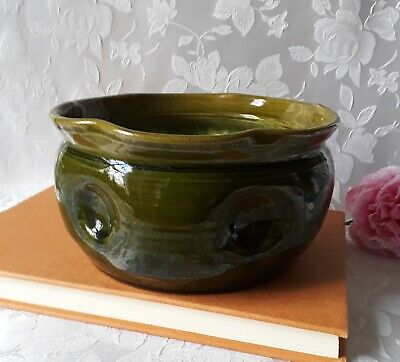 Vintage Bretby Art Pottery Green Planter Jardiniere