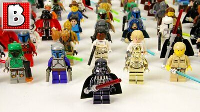 Lego Star Wars Minifigures Jedi Darth Vader Yoda Kylo Ren Sith  Blocks