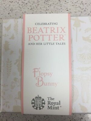 2018 Beatrix Potter Flopsy Bunny Silver Proof Coin