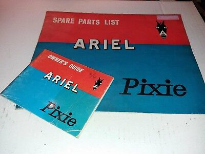 ARIEL 50cc PIXIE MOPED ORIGINAL 1958 FACTORY ILLUSTRATED PARTS CATALOGUE