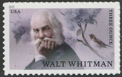 US 5414 Literary Arts Walt Whitman three ounce single (1 stamp) MNH 2019