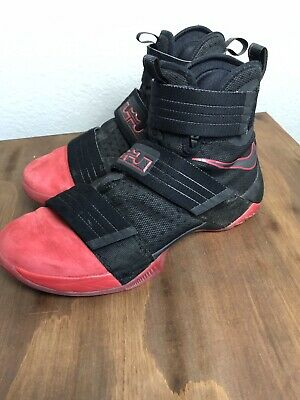 competitive price c2a9d b852e NIKE MEN'S LEBRON Soldier 10 Red And Black Size 11