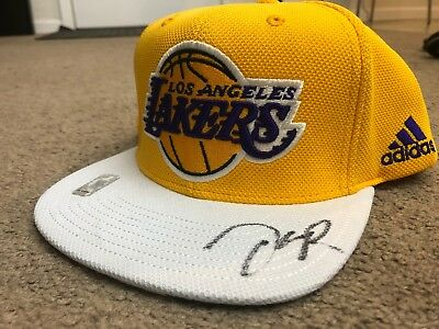 a133b415197 Los Angeles Lakers - D Angelo Russell - 2015 NBA Draft Autographed Snapback  Hat