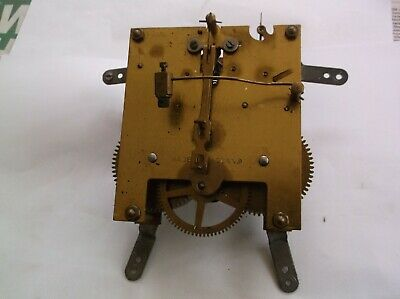 Mechanism  From An Old English Mantle Clock  Working Order Ref V991