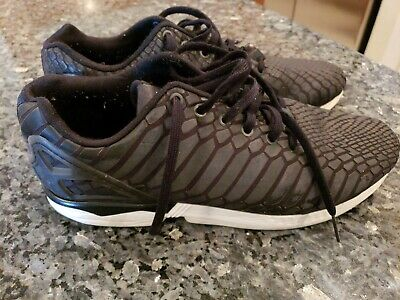 3431510c1 ADIDAS ZX FLUX XENO PACK REFLECT CORE BLACK SUPCOL WHITE B24441 Size 11