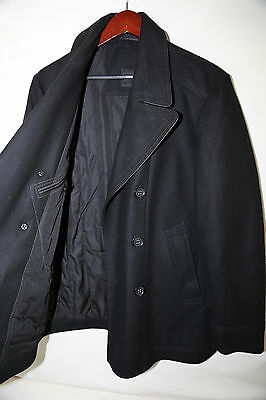 #313 Hugo Boss Black Label 'Double Breasted Wool Blend Peacoat Size 40 R