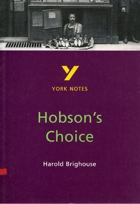 """York Notes on Harold Brighouse's """"Hobson's Choice"""" by Brian Dyke, NEW Book, FREE"""