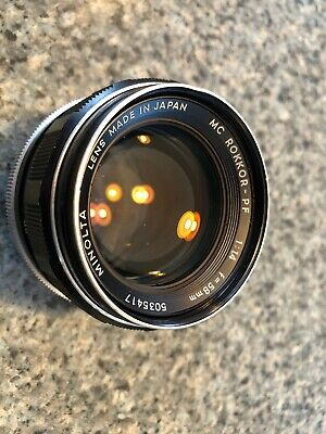 Minolta MC Rokkor~PF 58mm f1.4 MF Lens...Excellent Condition