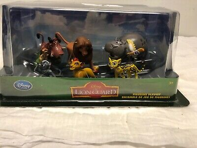 """Disney Store ~ Disney Junior  """"the Lion Guard"""" Playset/cake Toppers ~ New!"""