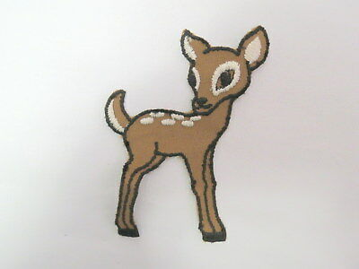 Animal Club Deer Embroidered Iron On Patch Cute Rose Baby Fawn Doe Buck 146-T
