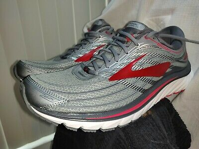 20253a94f39 NEW Brooks Glycerin 15 Men s Size 9 Grey Red Athletic Running Shoes  1102581D023