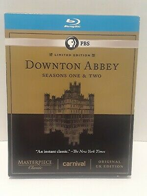Masterpiece Classic: Downton Abbey - Seasons One  Two (Blu-ray Disc, 2012, 5-Di…