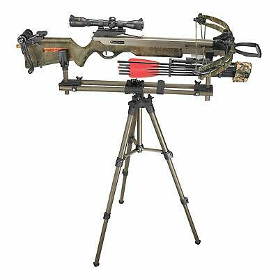 """Crossbow Hunting Rifle Bench Rest Hunter Bow Tripod Shooting 20"""" 42"""" Caldwell"""