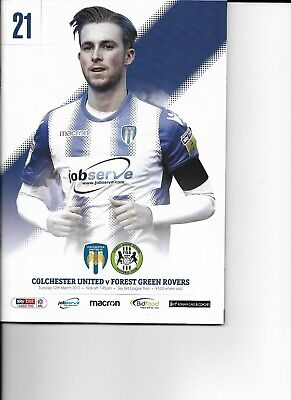 Colchester United v Forest Green Rovers (EFL Sky Bet League Two) 12.03.2019