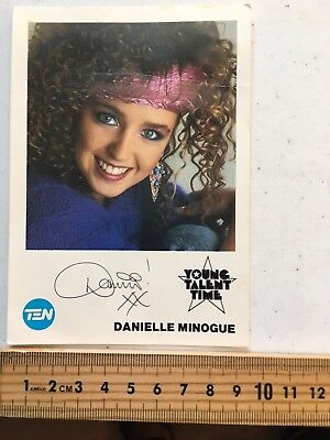 Tv Fan Card Danielle Minogue Young Talent Time