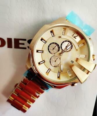 Authentic DlESEL Watch Gold Tone Stainless Steel Chronograph Mega Chief DZ4360