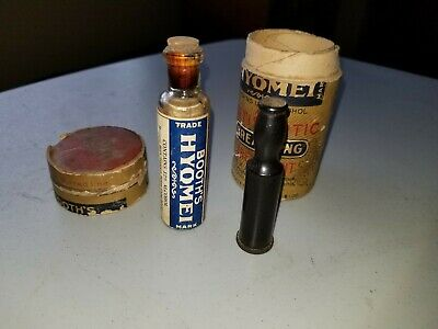 1896 Extremely Rare Antique Vintage Booths Hyomei Inhaler And Meds