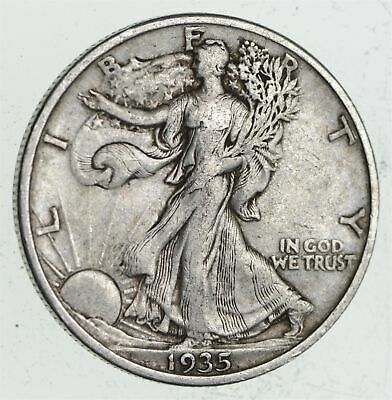 Strong Feather Details - 1935 Walking Liberty Half Dollar *323