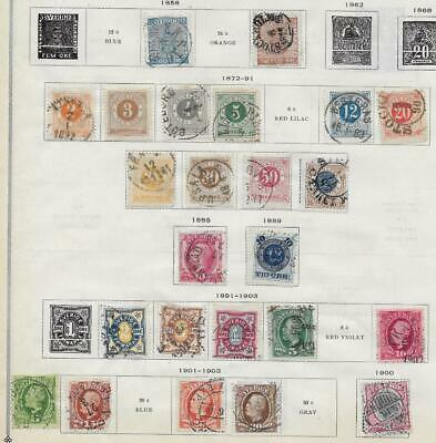 24 Sweden Stamps from Quality Old Album 1858-1903