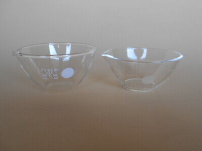 USED Pyrex 3180 OR Vycor 7913 Evaporating Dishes, about 100 ml, BUY MORE SAVE MO