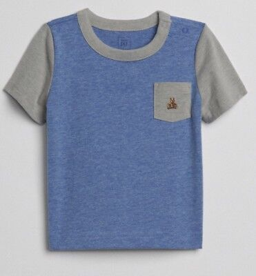 Nwt Baby Gap Baby Boy Pocket T-Shirt Size 3-6 Months