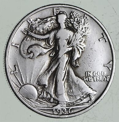Strong Feather Details - 1936 Walking Liberty Half Dollars - Huge Value *578