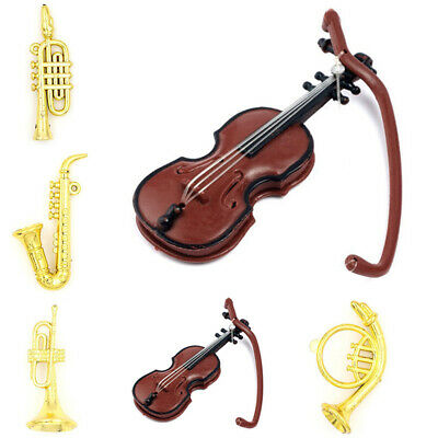 Miniature Plastic Music Instrument Model For 1:12 Doll House Decor Accessory R1