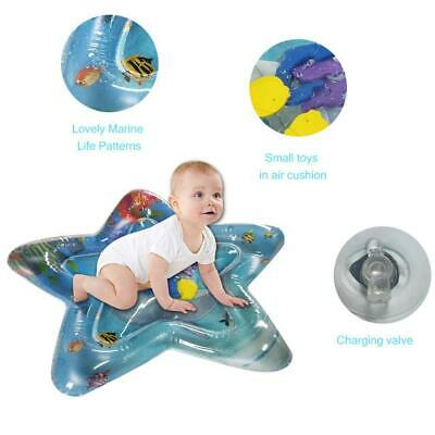 Baby Water Play Mat Infant Activity Toys Tummy Time Gym Inflatable Fun Cushion