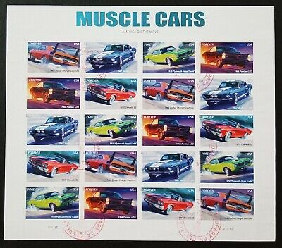 U.S. Used #4743 – 7 46c Muscle Cars Sheet of 20. Lovely CDS Cancel. Scarce!