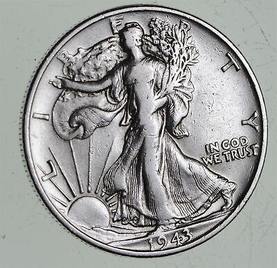 Strong Feather Details - 1943 Walking Liberty Half Dollars - Huge Value *466