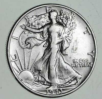 Strong Feather Details - 1943 Walking Liberty Half Dollars - Huge Value *453