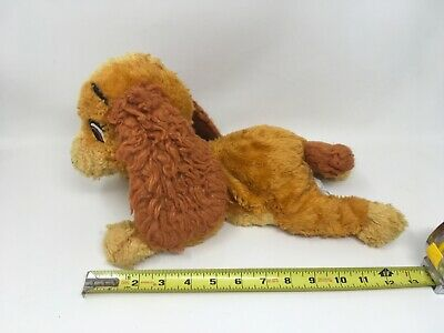 DISNEY STORE Plush LADY And The Tramp Dog Stuffed Animal Toy Free Shipping
