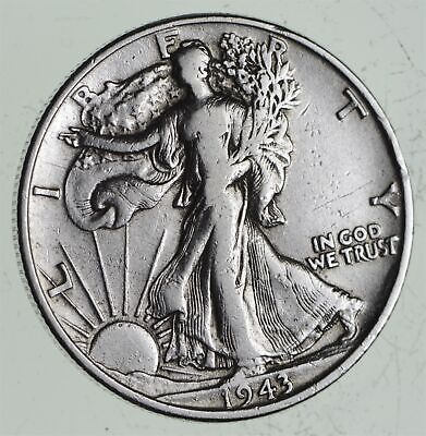 Strong Feather Details - 1943 Walking Liberty Half Dollars - Huge Value *571