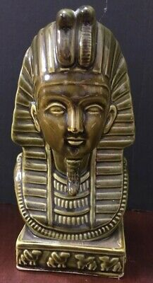 King Tut Bust Ceramic Ancient Egyptian Statue