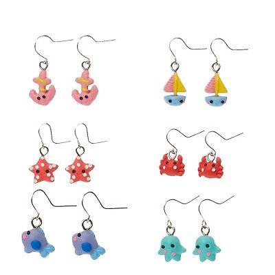 e6b69b9a33be8 NWT CLAIRE'S GIRLS set of 6 Under The Sea Creature Fun Drop Dangle ...