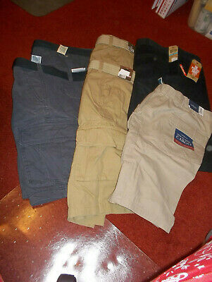Big  mens cargo belted shorts size W 46 new with tags Lot of 2 pair very nice