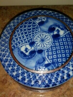 Fine 19th C Chinese Blue And White Paste Box