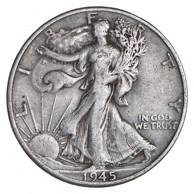 1945-D Walking Liberty 90% Silver US Half Dollar *383